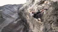 Up the steep rock video