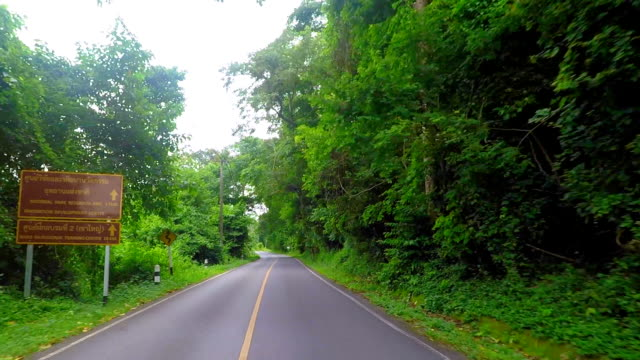 Uphill Driving To Khao Yai National Park . video