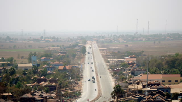 Upper distance view to main village road video