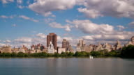 Upper East Side NYC skyline  - Puffy Clouds video