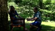 Upset, angry, mad woman kick apologizing man video