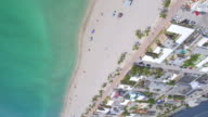 Upside down aerial beach video video