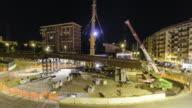 Urban Construction site timelapse video