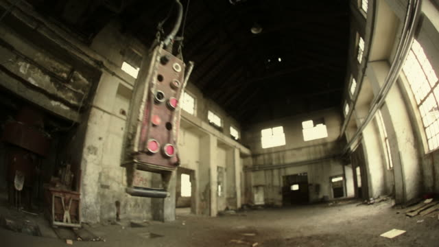 Urban decay, old warehouse, Eastern Europe video