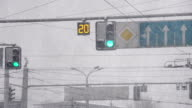 Urban Intersection and Blizzard video