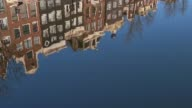 Urban Landscape Amsterdam The Netherlands Holland Water Canal Home Building video