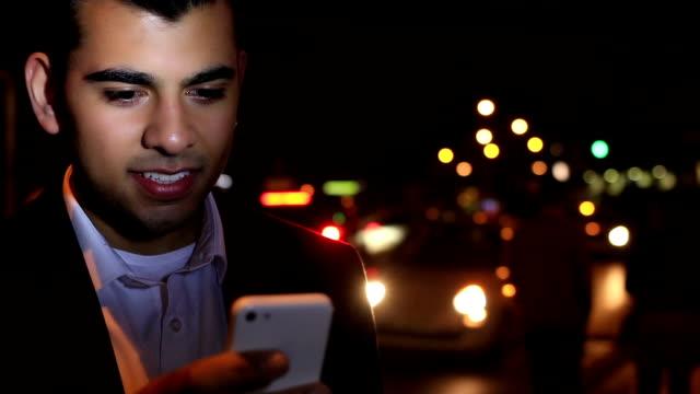 Urban. Messaging young man. video