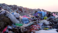 DOLLY: Urban Refuse Dump At Sunset video