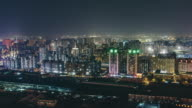 T/L WS HA Urban Residential Area at Night / Beijing, China video