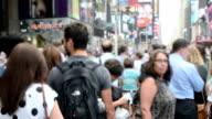urban scene in slow-motion video