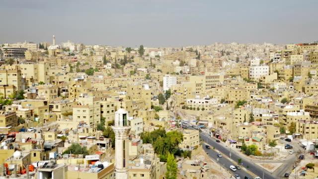 Urban scene of Amman, Jordan video