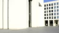 Urban scene, Office building, Frankfurt, Time Lapse video