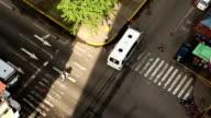 Urban Street Interception from Above video
