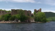 Urquhart Castle from Loch Ness video