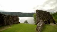 Urquhart Castle Ruins - Highlands of Scotland - Pan video
