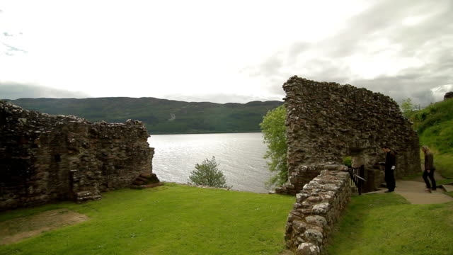 Urquhart Castle Ruins - Highlands of Scotland - Pan video