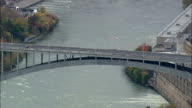 Usa And Canada Border Crossing - Aerial View - New York,  Niagara County,  United States video
