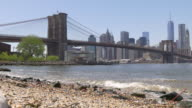 usa brooklyn bridge park bay manhattan panorama 4k video