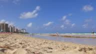 Usa day miami sunny isles beach ocean bay panorama 4k florida video