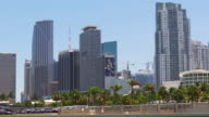 Usa miami downtown city bay summer day panorama 4k florida video