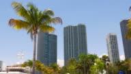 Usa miami summer day downtown bay panoramic view 4k florida video