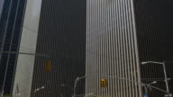 Usa new york city day sun light manhattan old  skyscraper view 4k video