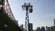 usa roosevelt island queensboro bridge aerial tram tram line up view video