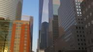 Usa summer sunset light new york city freedom tower block 4k video