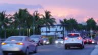 usa summer sunset north miami traffic bridge 4k time lapse florida video