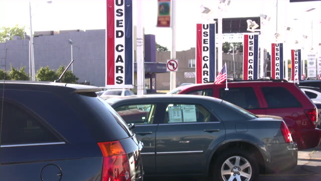 used cars. car dealership video