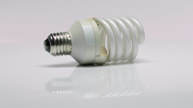 Used spiral fluorescent lamp video