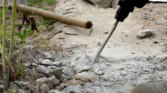 Using A Hammer drill video