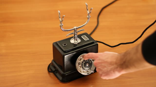 Using a vintage telephone video