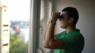 Using binoculars video