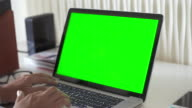 Using Computer Laptop With Green Screen video