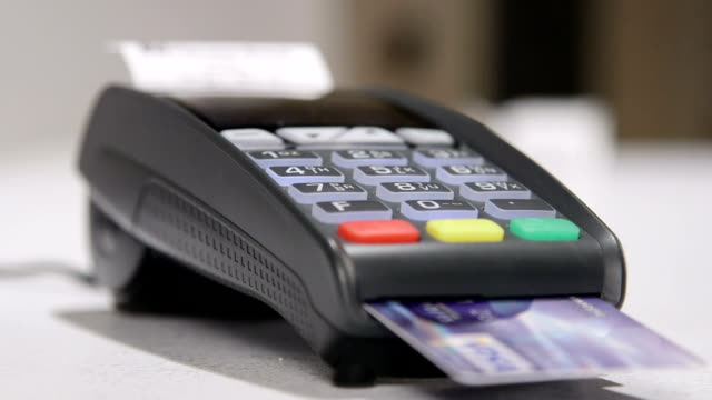 Using credit card terminal for payment video