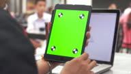 Using digital tablet,Green screen video