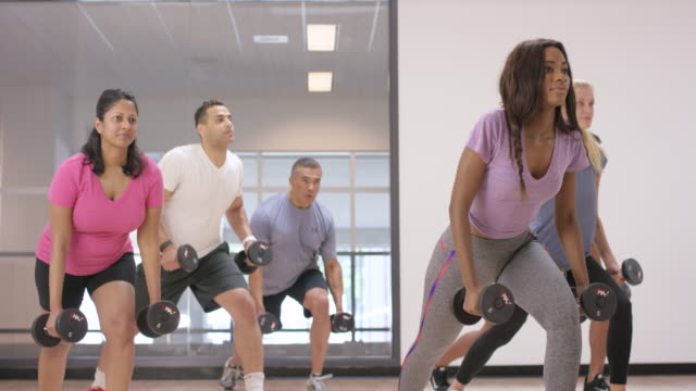 Using Dumbbells in Fitness Class video