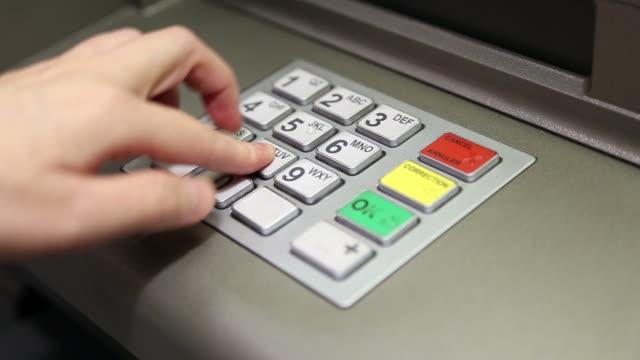 Using keypad at ATM machine video