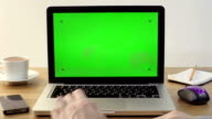 Using Laptop with a Green Screen video