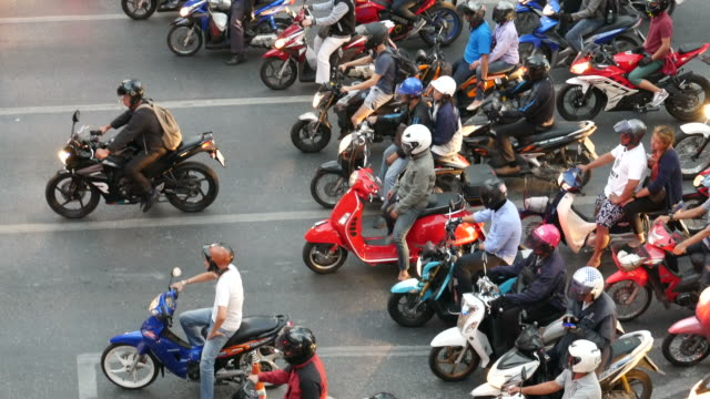 Using motorcycles during rush hour video