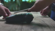 Using NFC technology to pay with mobile phone, Contactless payment video