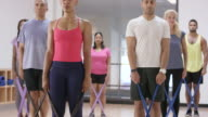 Using Resistance Bands in a Fitness Class video