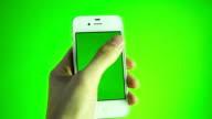 Using smart phone on green screen video