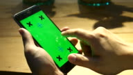 Using smart phone,Green screen video