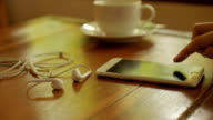 Using Smartphone Restaurant video