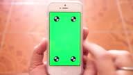 using Smartphone,Green screen video