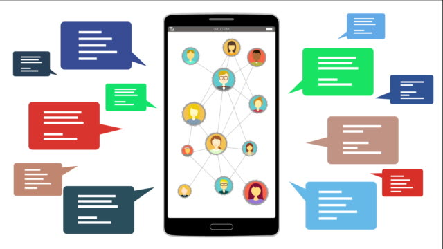 Using social media service. video