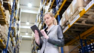 Using tablet in distribution warehouse video