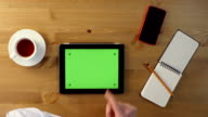 Using Tablet PC with a Green Screen.Top View video